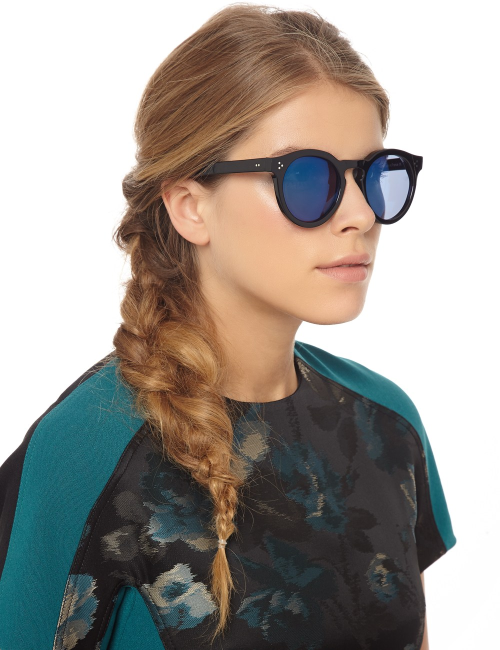 Illevesta Sunglasses  illesteva mirrored leonard ii sunglasses in black lyst