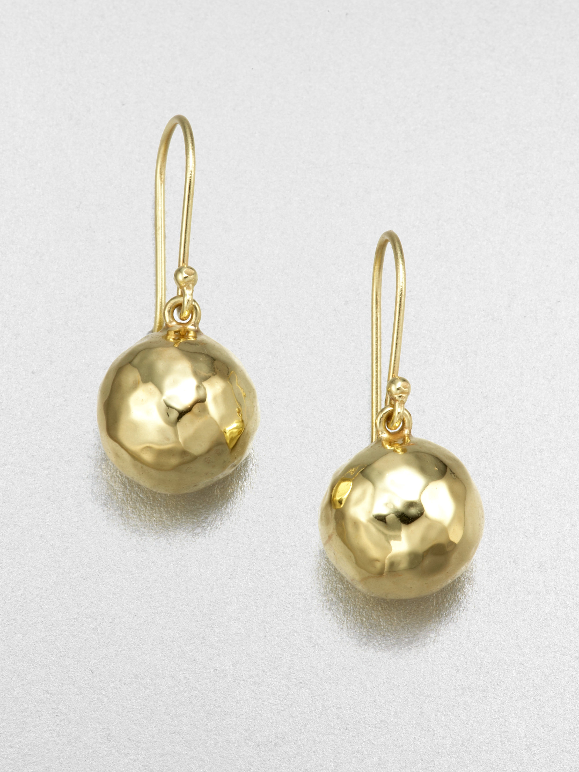 Large Gold Ball Drop Earrings Best All Earring Photos Kamiliol