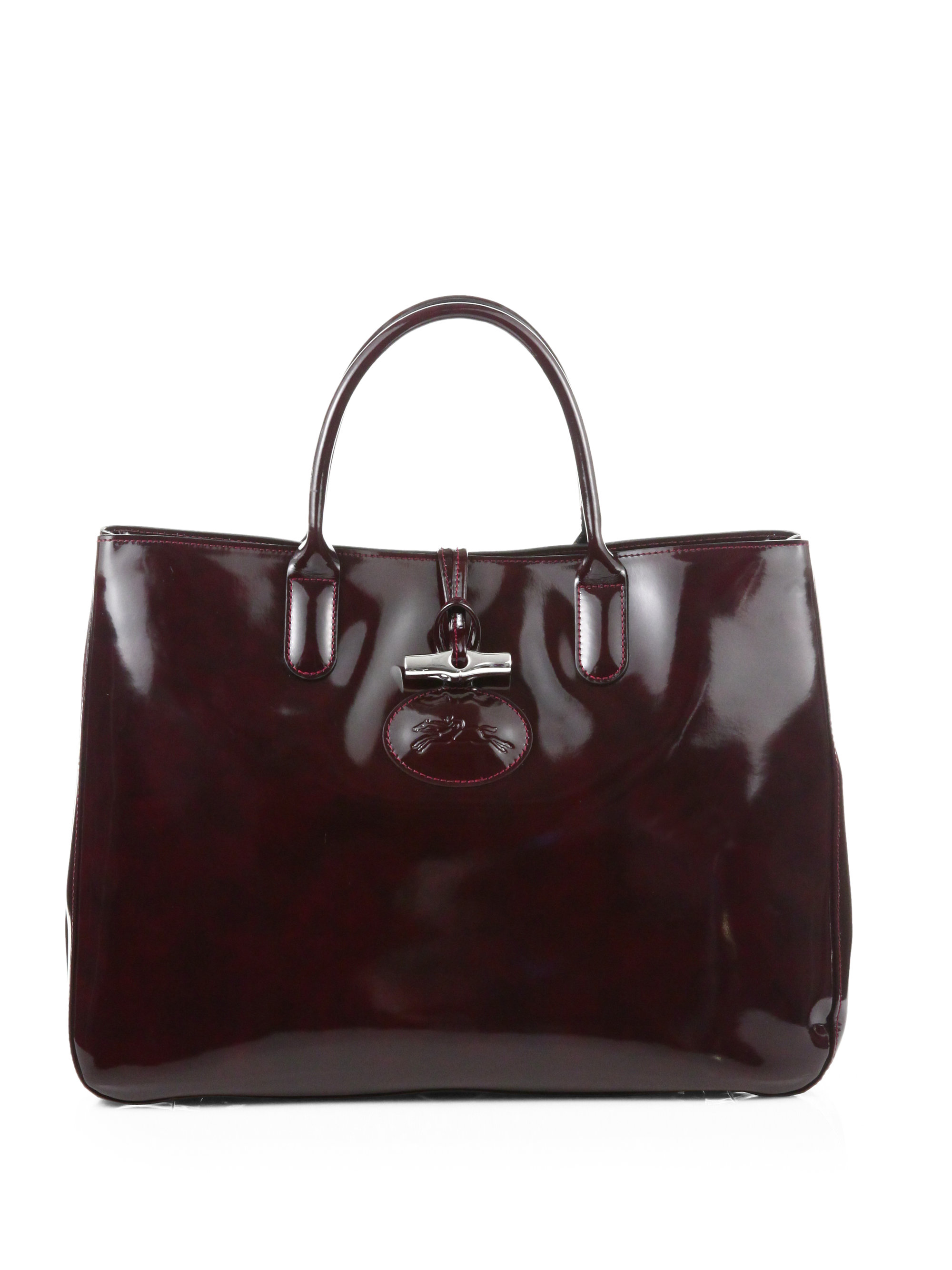 Lyst - Longchamp Roseau Heritage Large Box Tote in Brown f94f507df9a13