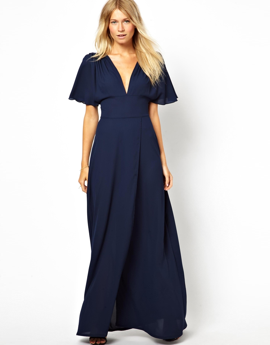 What Shoes To Wear With Navy Maxi Dress