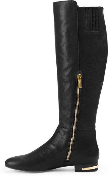 michael kors ailee flat studded knee boot in black lyst