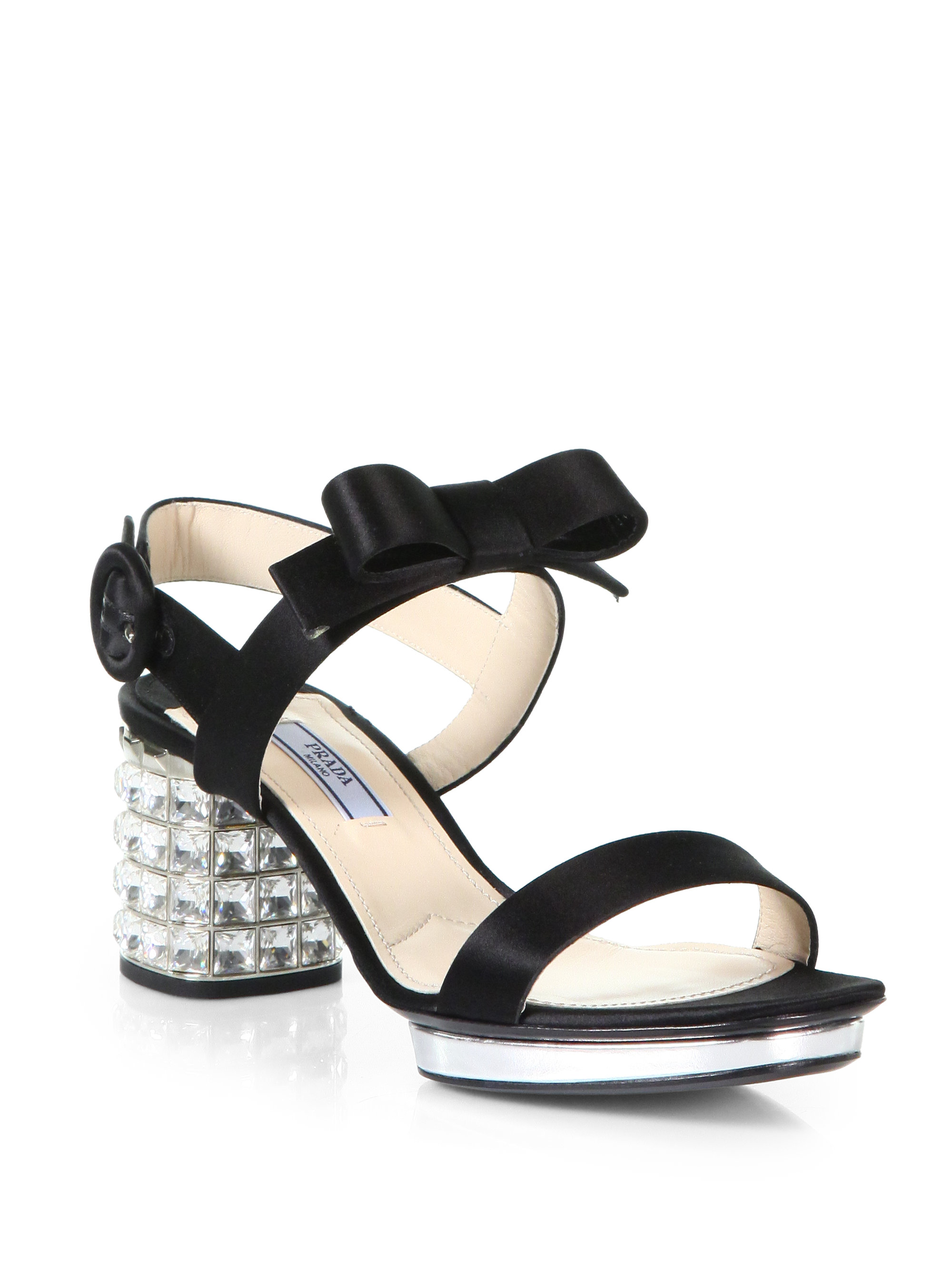cheap sale latest collections sale cheapest price Prada Jeweled Bow Sandals shopping online high quality sale footaction sale with paypal EFaCOAJOsR
