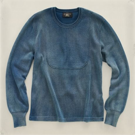 Rrl Crewneck Pullover in Blue for Men (Indigo) - Lyst