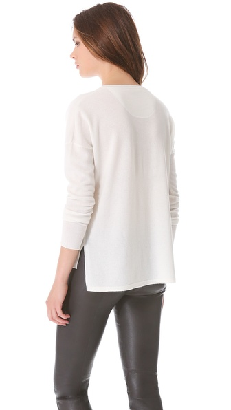 Lyst Vince Split Side Sweater In Natural