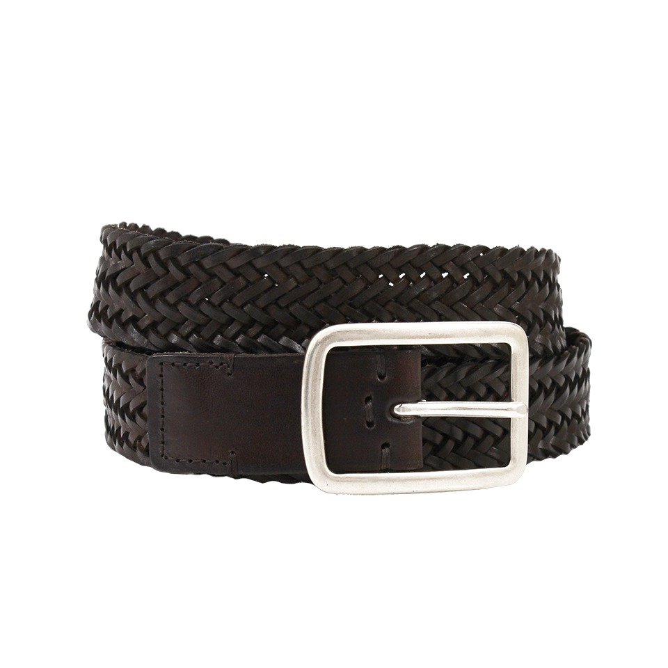 Brunello cucinelli Mens Leather Woven Belt in Black for ...