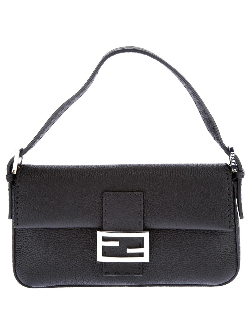 a876ae1ff438 Lyst - Fendi Selleria Baguette Bag in Black