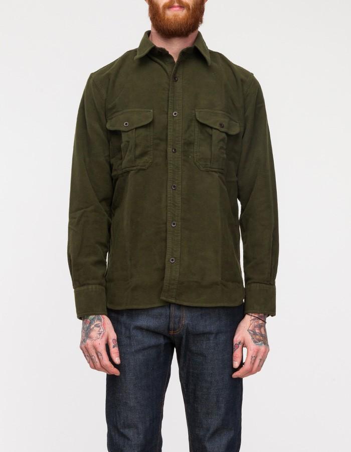 Filson Moleskin Guide Shirt in Green in Green for Men | Lyst