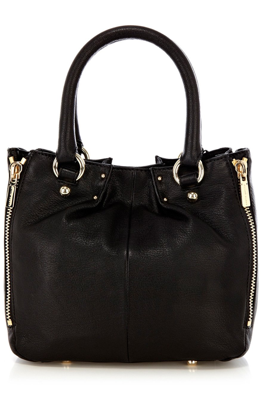Large Leather Tote Bag With Zipper Ekta Bags