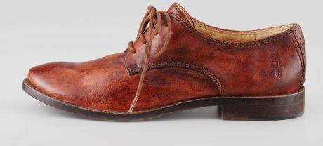 Frye Anna Leather Oxford Cognac in Brown (COGNAC