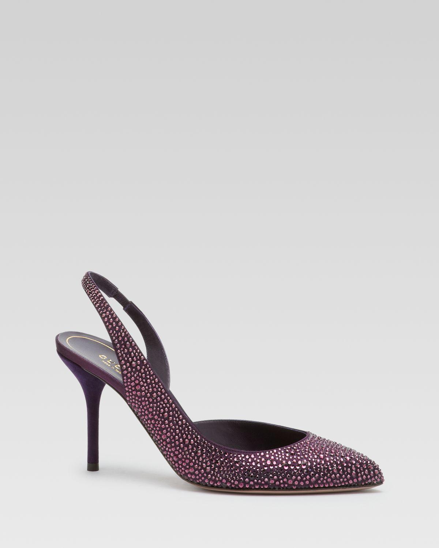 1adf17b00e84 Lyst - Gucci Noah Evening Dorsay Pump in Purple