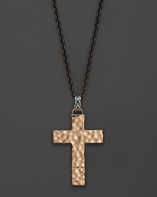 hardy mens palu cross pendant necklace with naga