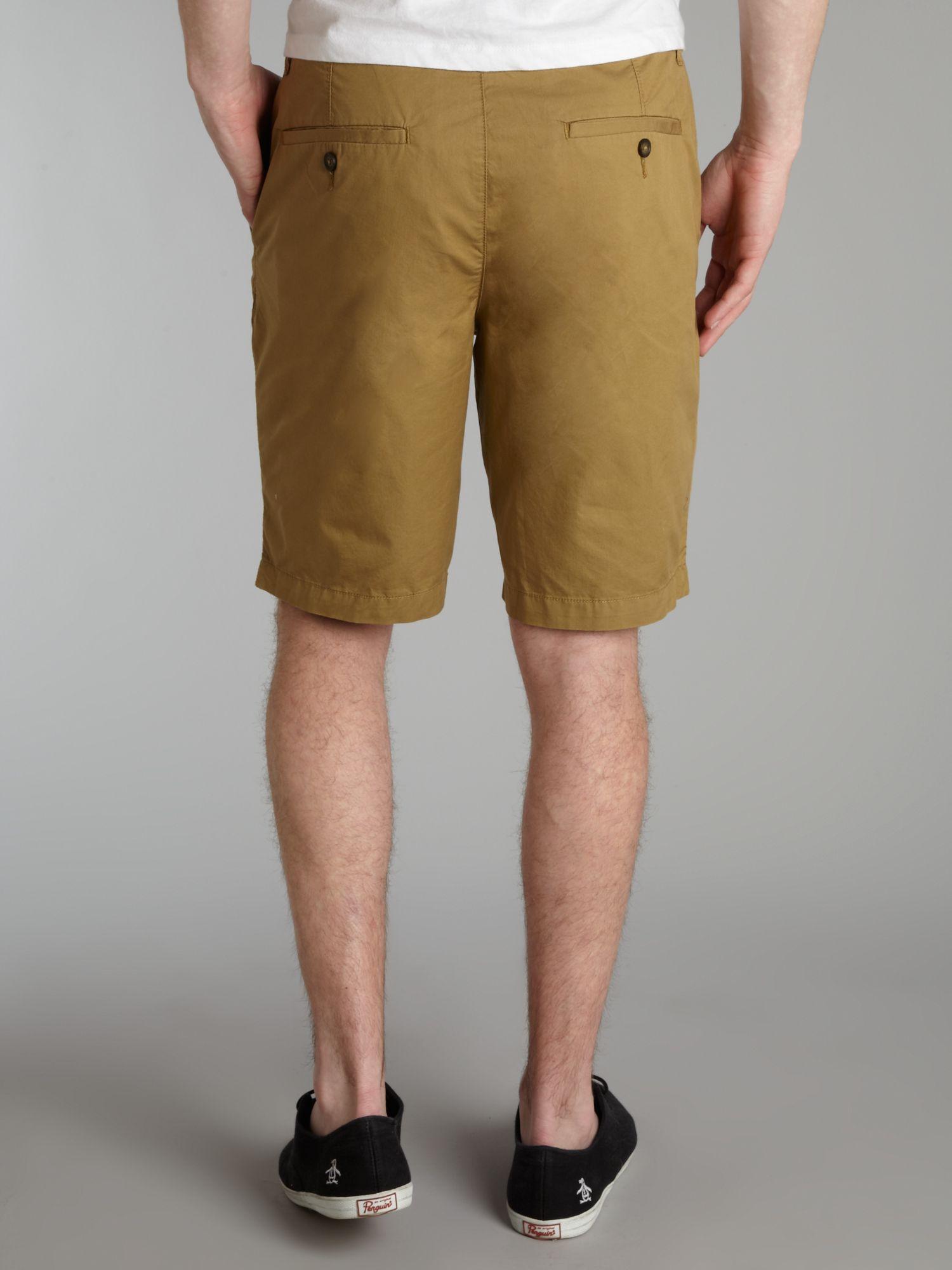 Original penguin Regular Fit Chino Shorts in Brown for Men | Lyst