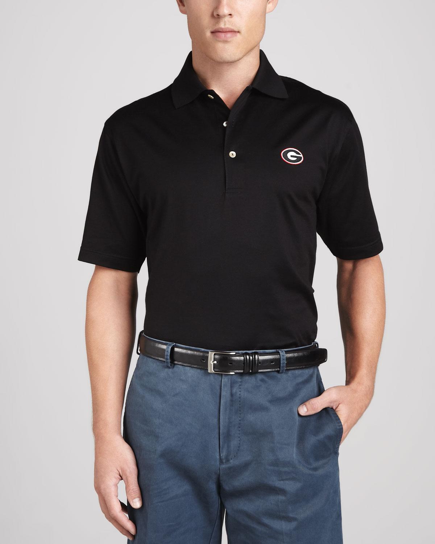 Peter Millar Georgia Gameday Polo College Shirt In Black
