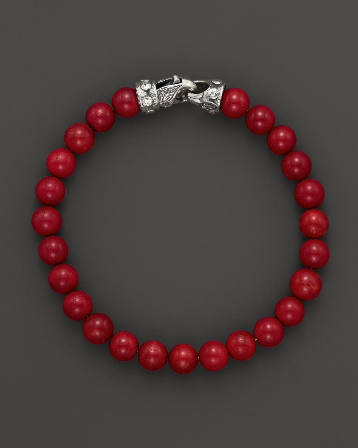 Scott Kay Mens Red Tigerseye Bead Bracelet In Red For Men