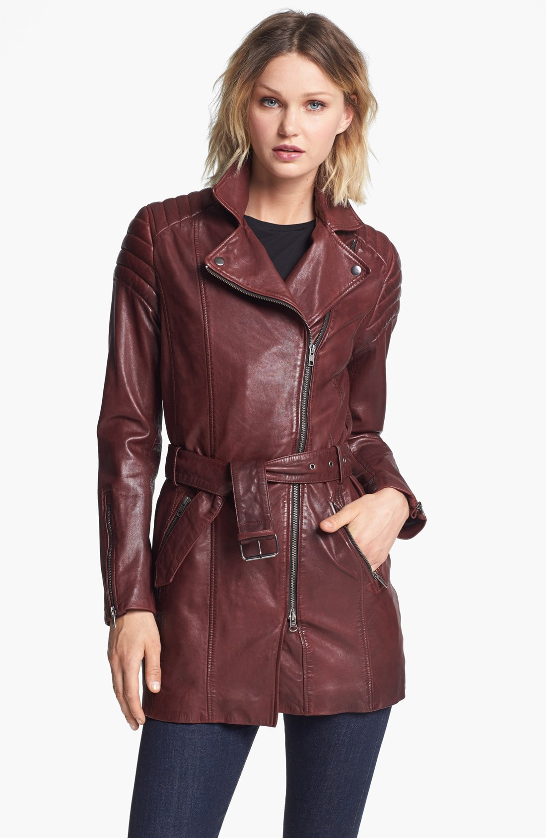 Free shipping and returns on Women's Red Leather & Faux-Leather Jackets at grounwhijwgg.cf