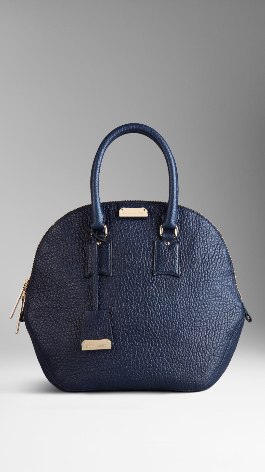 a6bbb3dfdbca Burberry The Medium Orchard in Heritage Grain Leather in Blue - Lyst