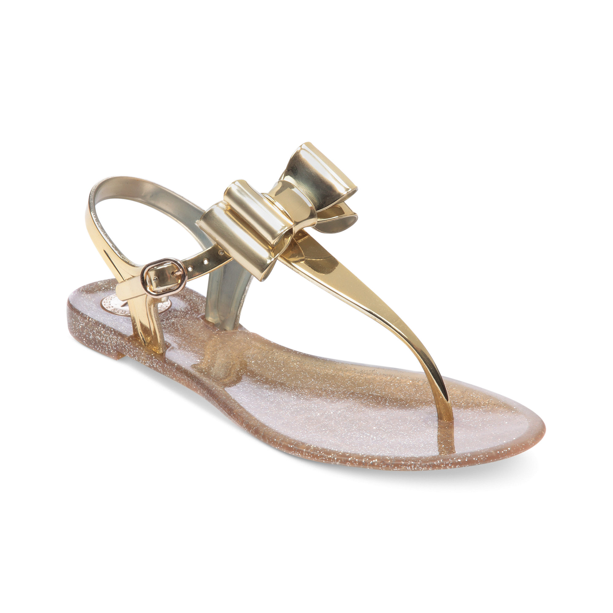 Bcbgeneration Demee Jelly Thong Sandals In Metallic Lyst