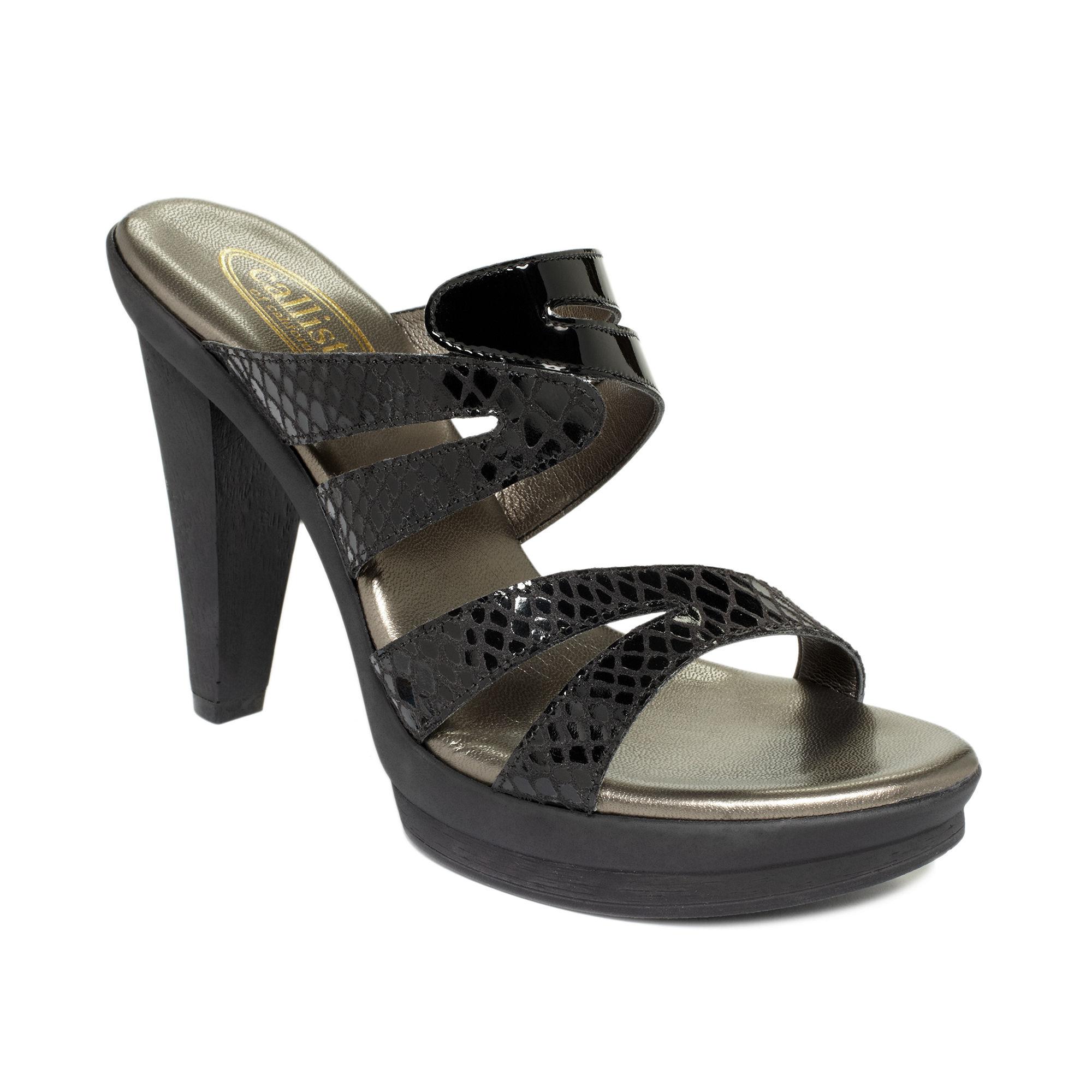Lyst Callisto Elegance Slide Sandals In Black
