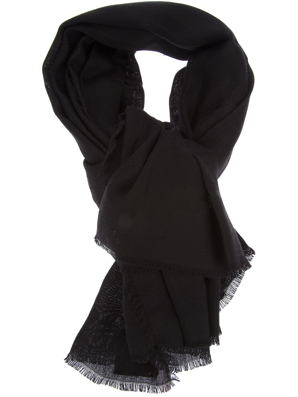 ca24e68bca6 france lyst fendi karlito scarf in black c0f47 f30b7