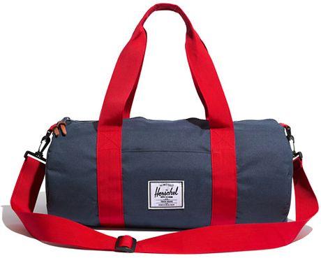 Madewell Herschel Supply Coreg Sutton Duffel Bag In Blue Navy Red Lyst