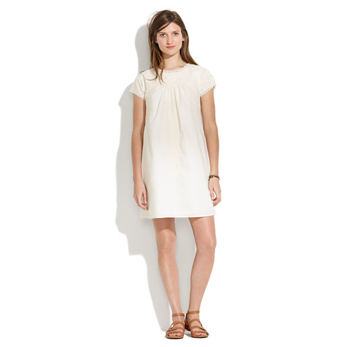 bab6216f70b Lyst - Madewell Embroidered Sundress in White