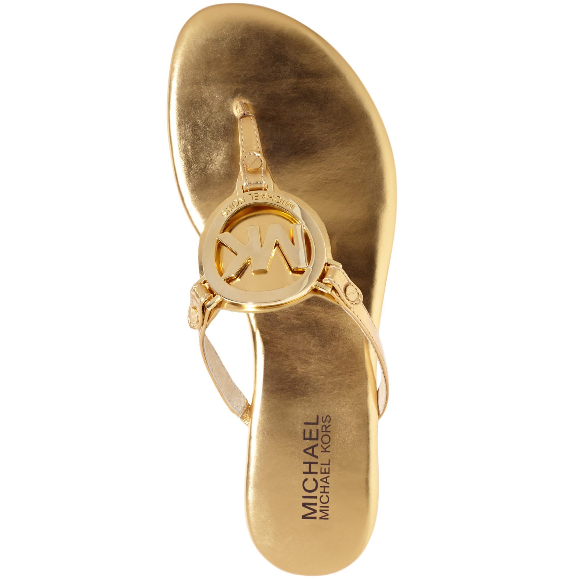 fc67f0b40f9 MICHAEL Michael Kors Sutton Moccasins Source · Lyst Michael Kors Melodie  Flat Thong Sandals in Metallic Gallery Source · Michael Kors Berkley T Strap  ...