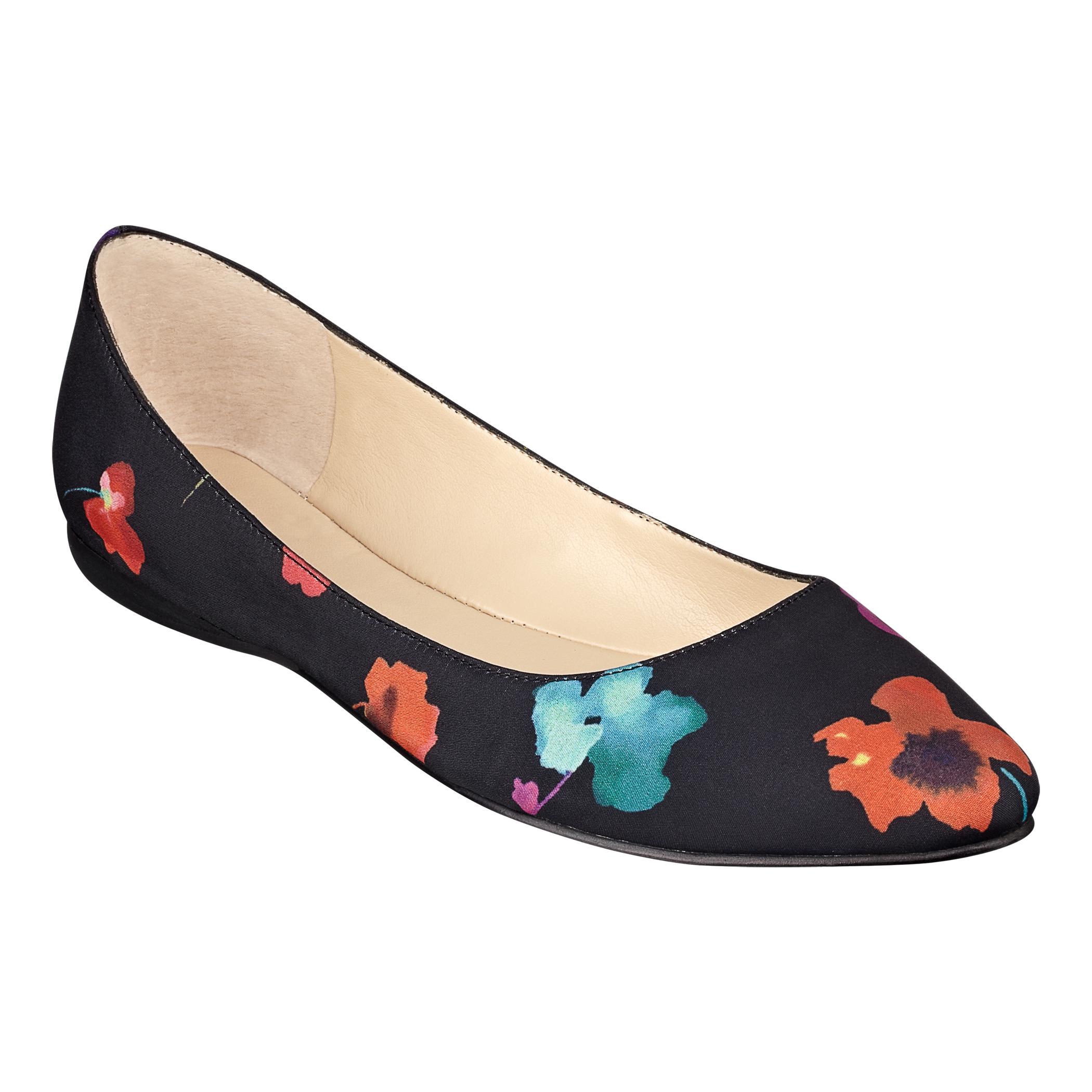 Stylish Women s Flats Shoes Nine West SpeakUp Women Orange Multi SatinBuy shoes