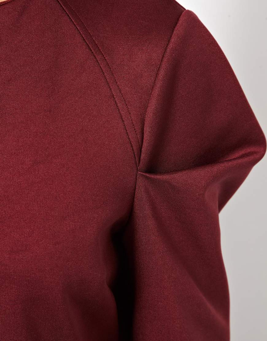 Lyst asos top with origami fold sleeves in red gallery jeuxipadfo Gallery