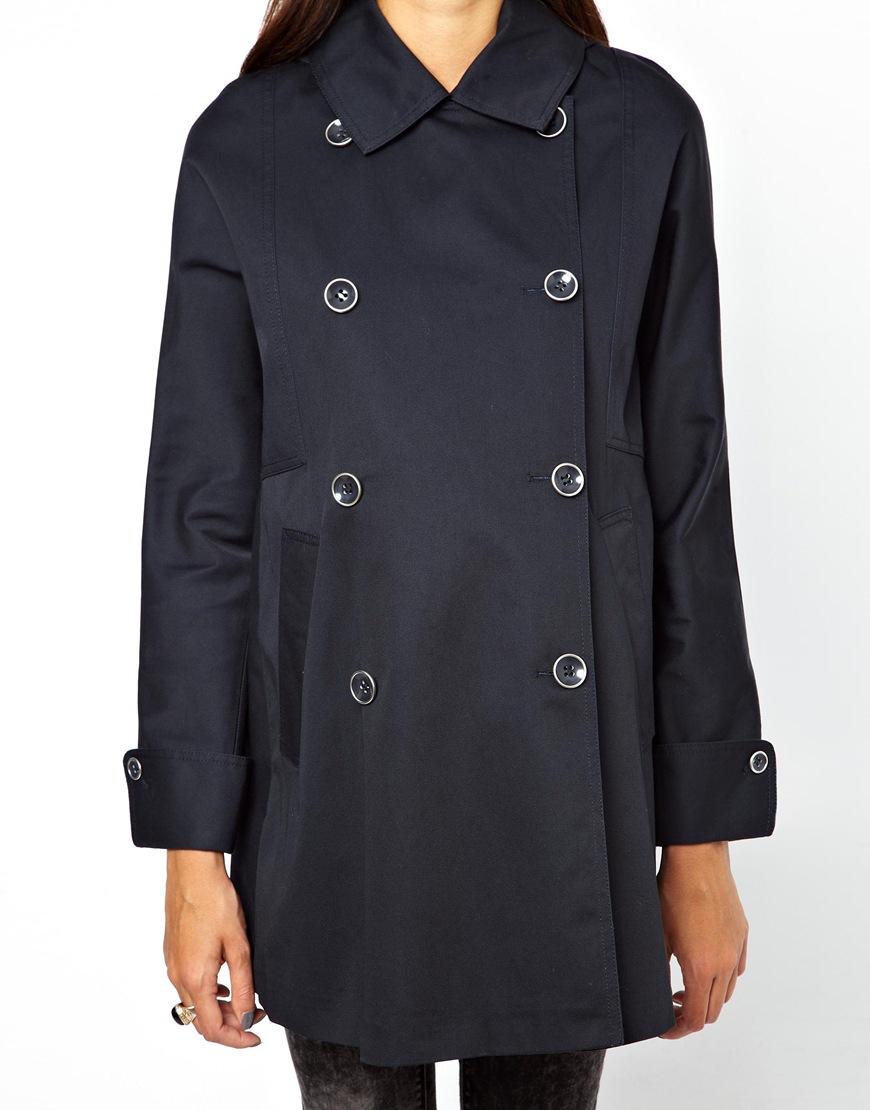 Asos Maternity Duffle Coat in Blue (Navy)