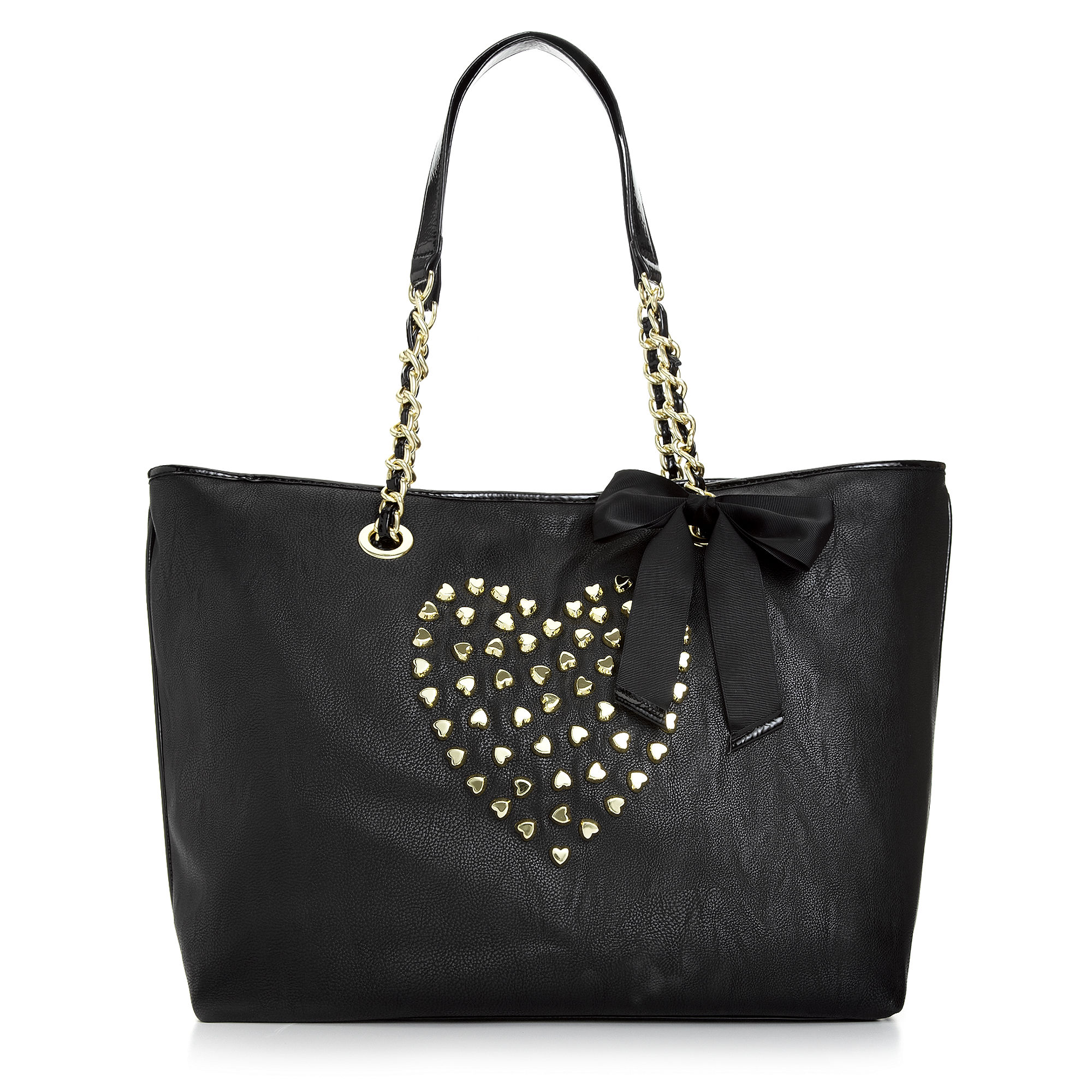 Lyst Betsey Johnson Hearts Large Tote In Black