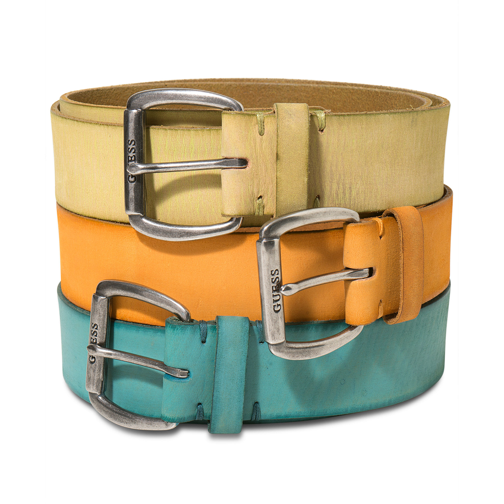 guess belt colored leather belt in multicolor for