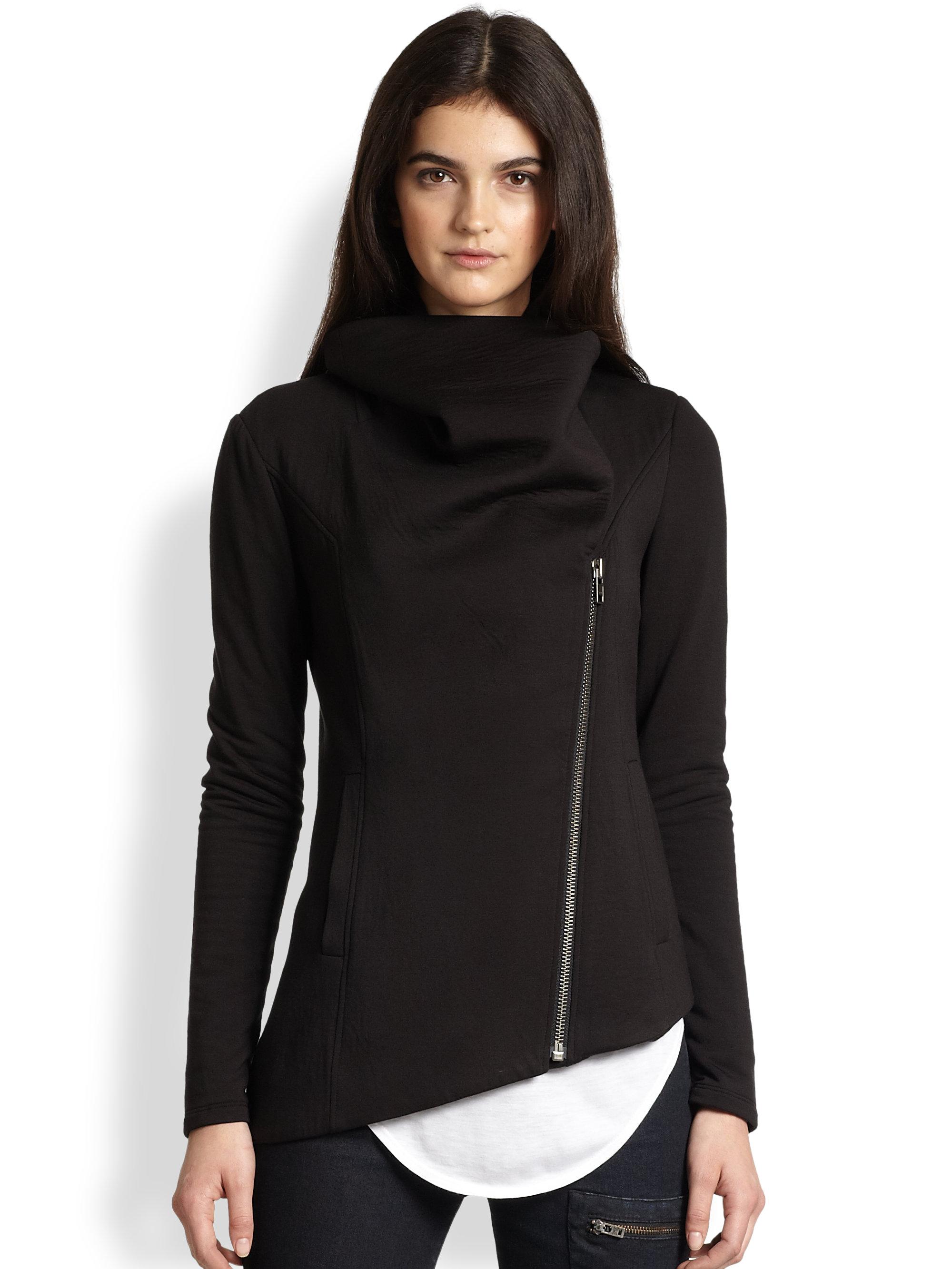 Helmut Lang Helmut Villous Asymmetrical Sweatshirt in ...