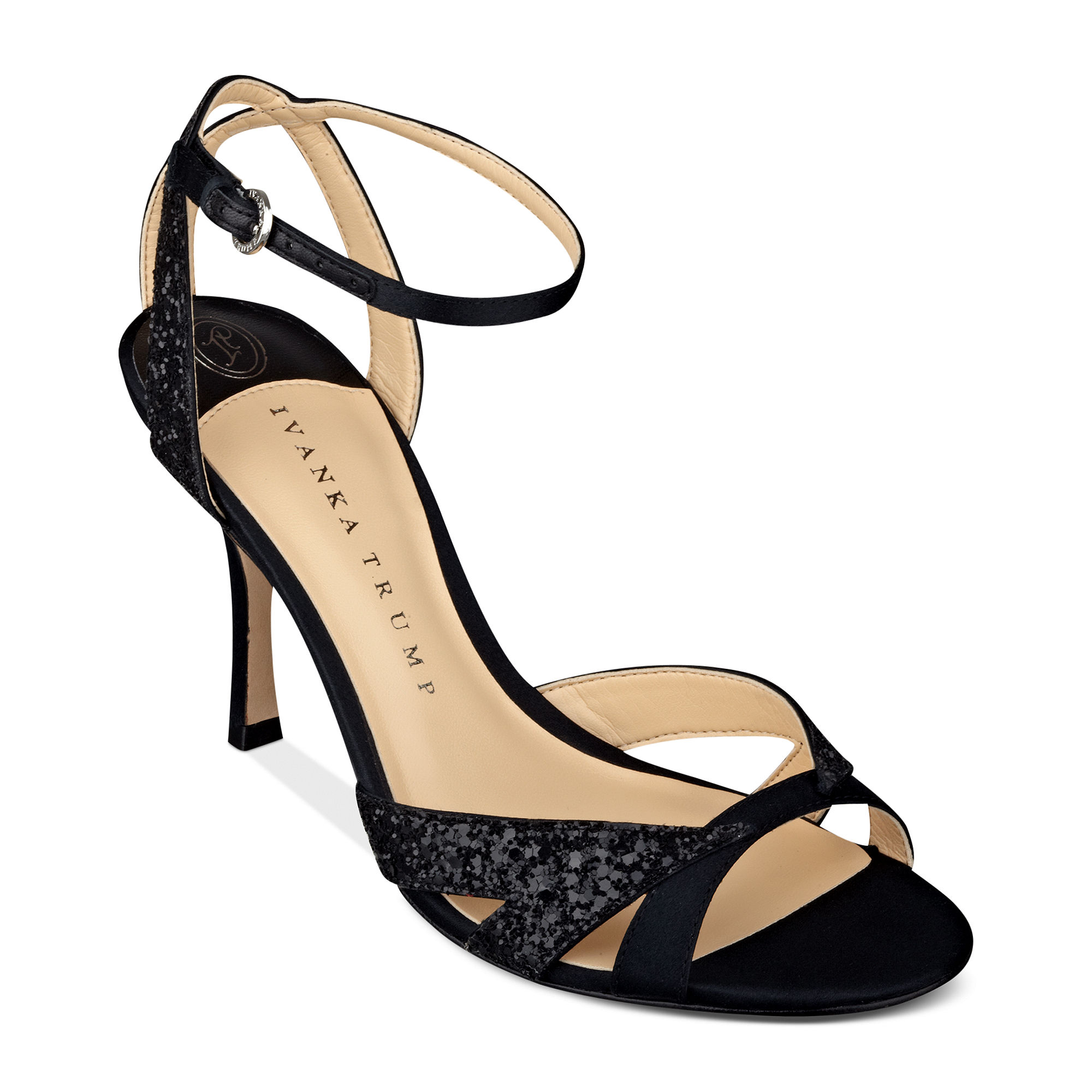 d5176f8a6a98d Ivanka Trump Anita Mid Heel Evening Sandals in Black - Lyst