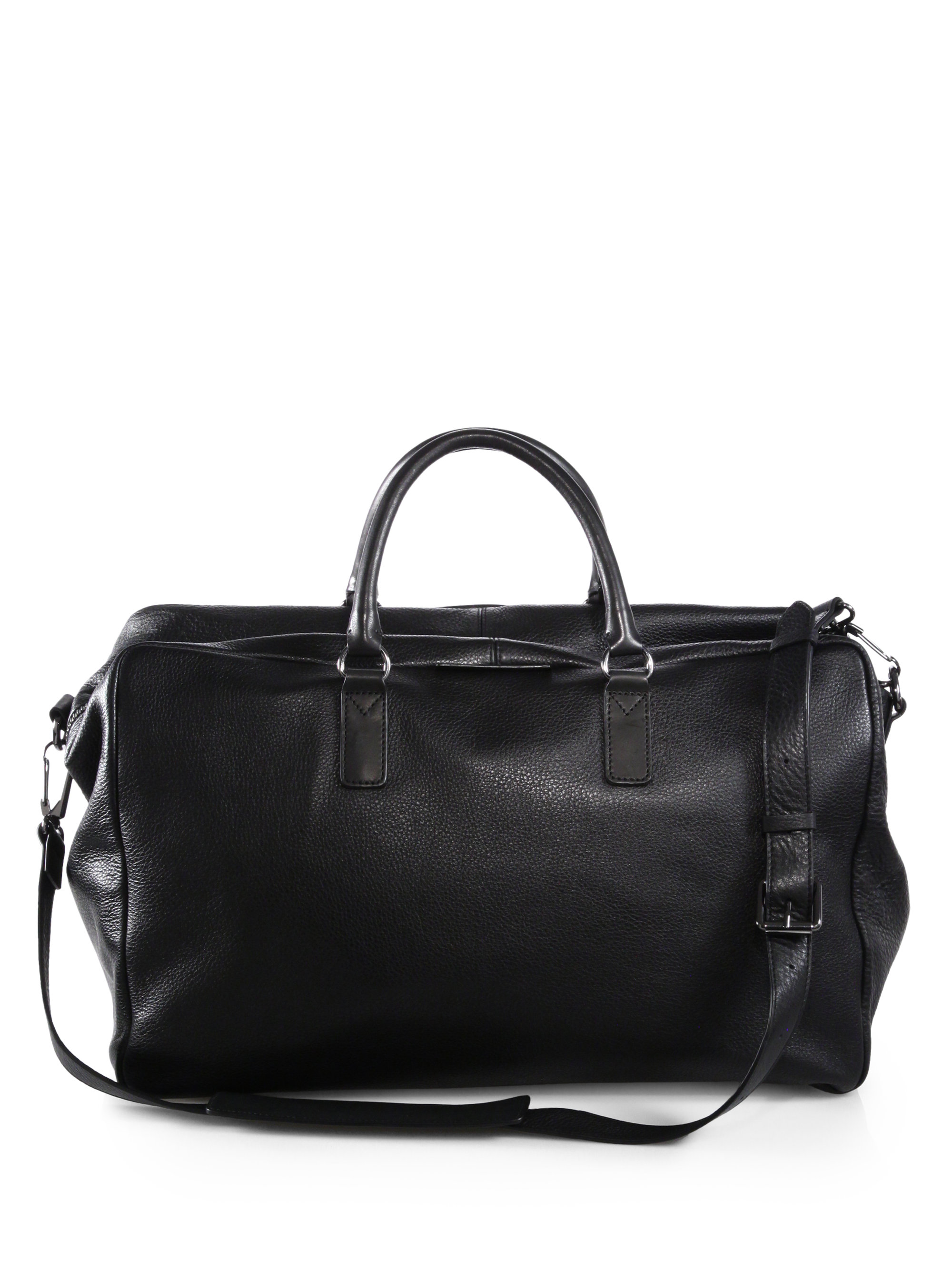 9d2547fb52 Lyst - Marc By Marc Jacobs Pebbled Leather Duffle Bag in Black for Men