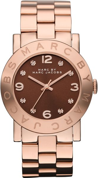 Marc By Marc Jacobs Women'S Rose Gold Ion Plated Stainless Steel Bracelet 36Mm Mbm3167 in Pink (rose)
