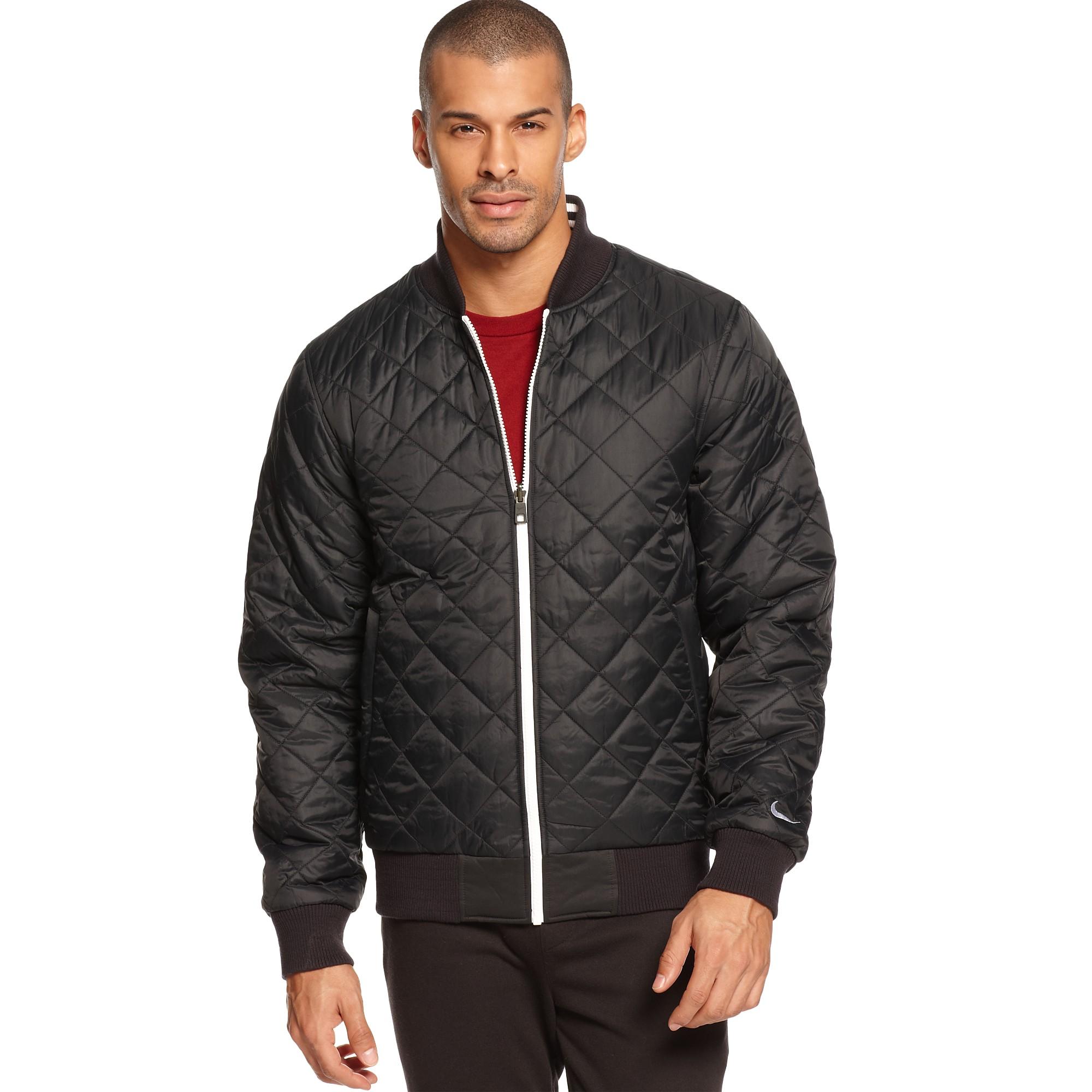Lyst Nike Padded Ad Reversible Varsity Jacket In Black