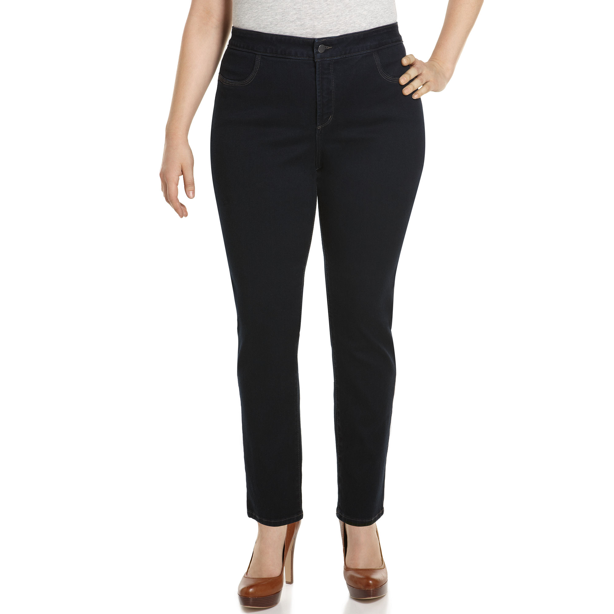 Not your daughter's jeans Nydj Plus Size Jeggings Janice Tummy ...