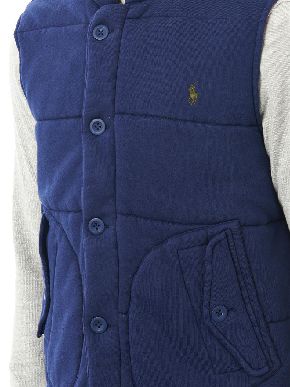 polo ralph lauren quilted jersey gilet in blue for men lyst. Black Bedroom Furniture Sets. Home Design Ideas