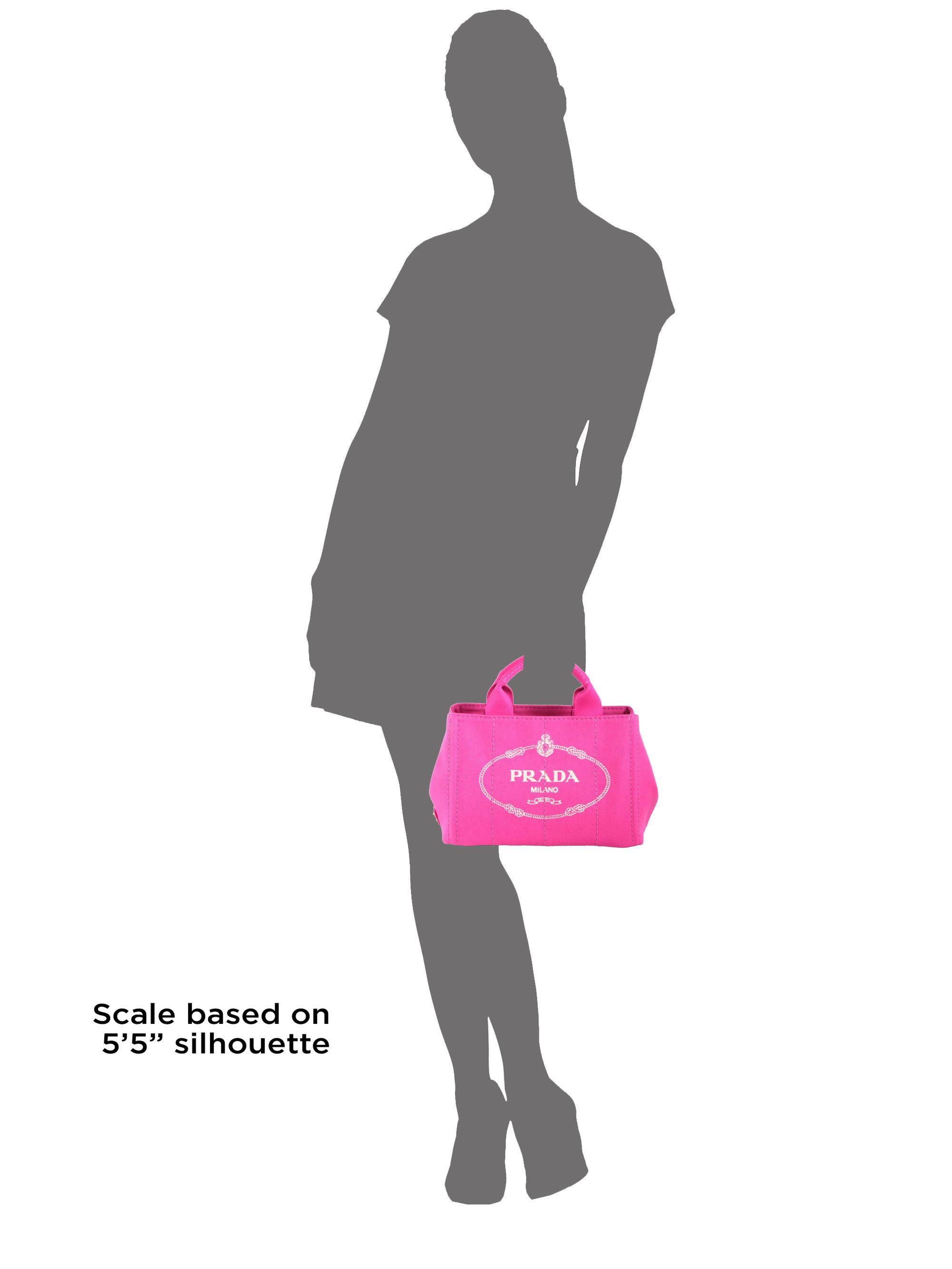 prada totes bags - Prada Logo Printed Small Canvas Tote in Pink (FUXIA-PINK) | Lyst