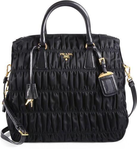613de10fcca560 Prada Black Tessuto Nylon Gaufre Satchel Bag | Stanford Center for ...