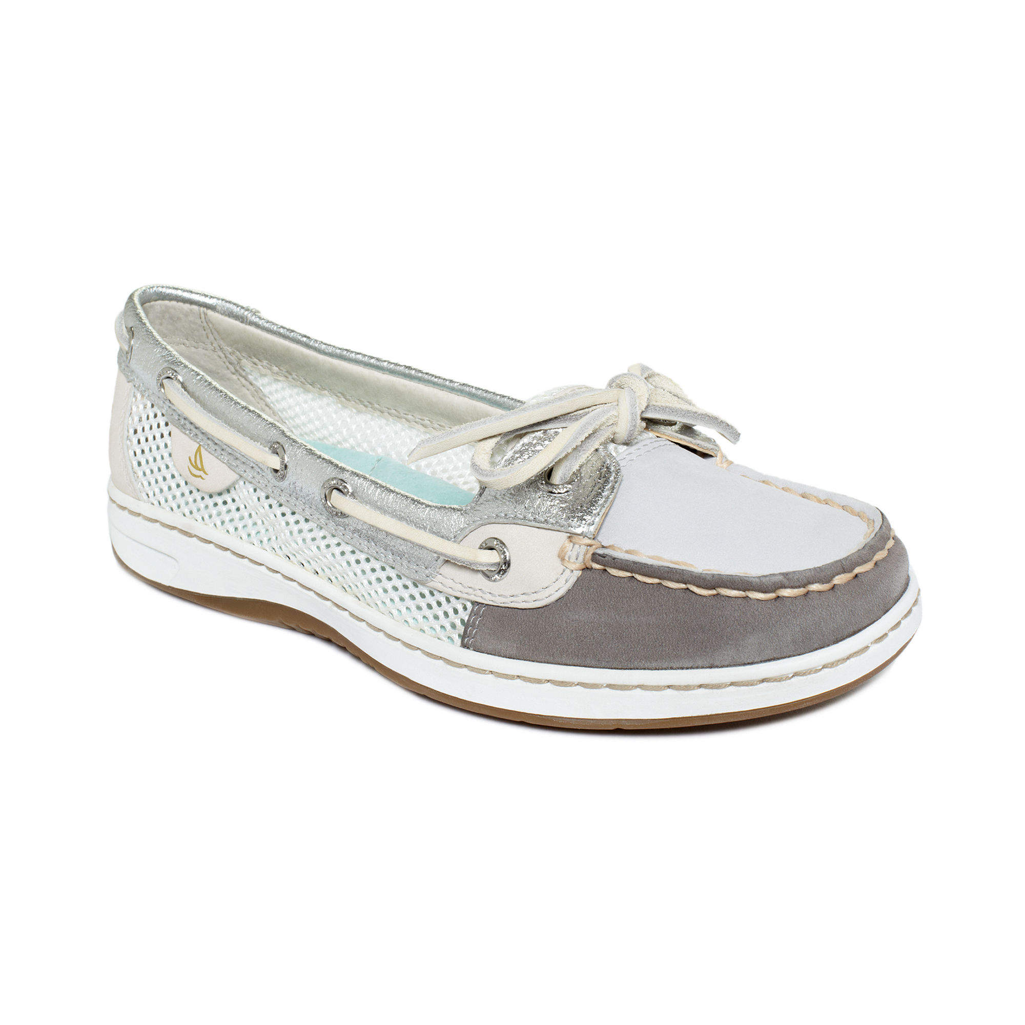 Sperry Top Sider Bahama Boat Shoes Gray Womens