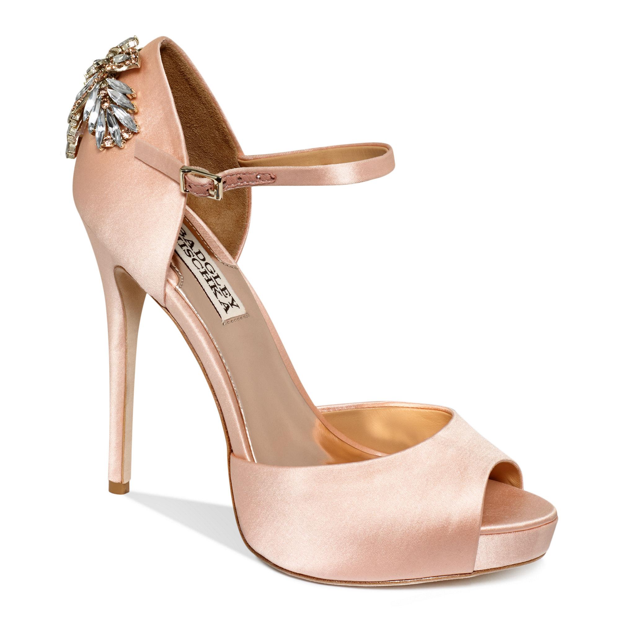 4d7a6e43899 Lyst - Badgley Mischka Nessa High Heel Evening Pumps in Pink