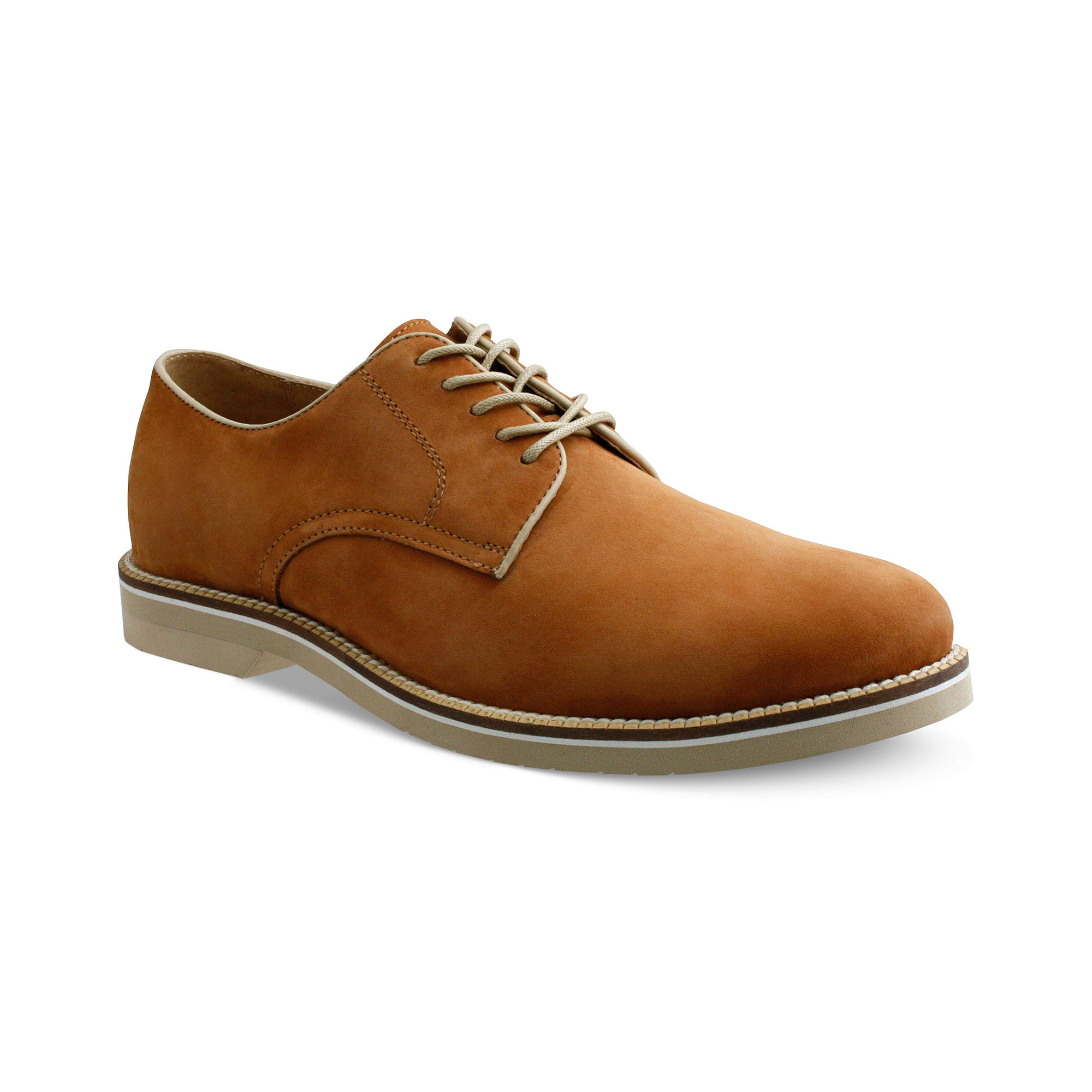 g h bass co buckinham plaintoe suede shoes in brown