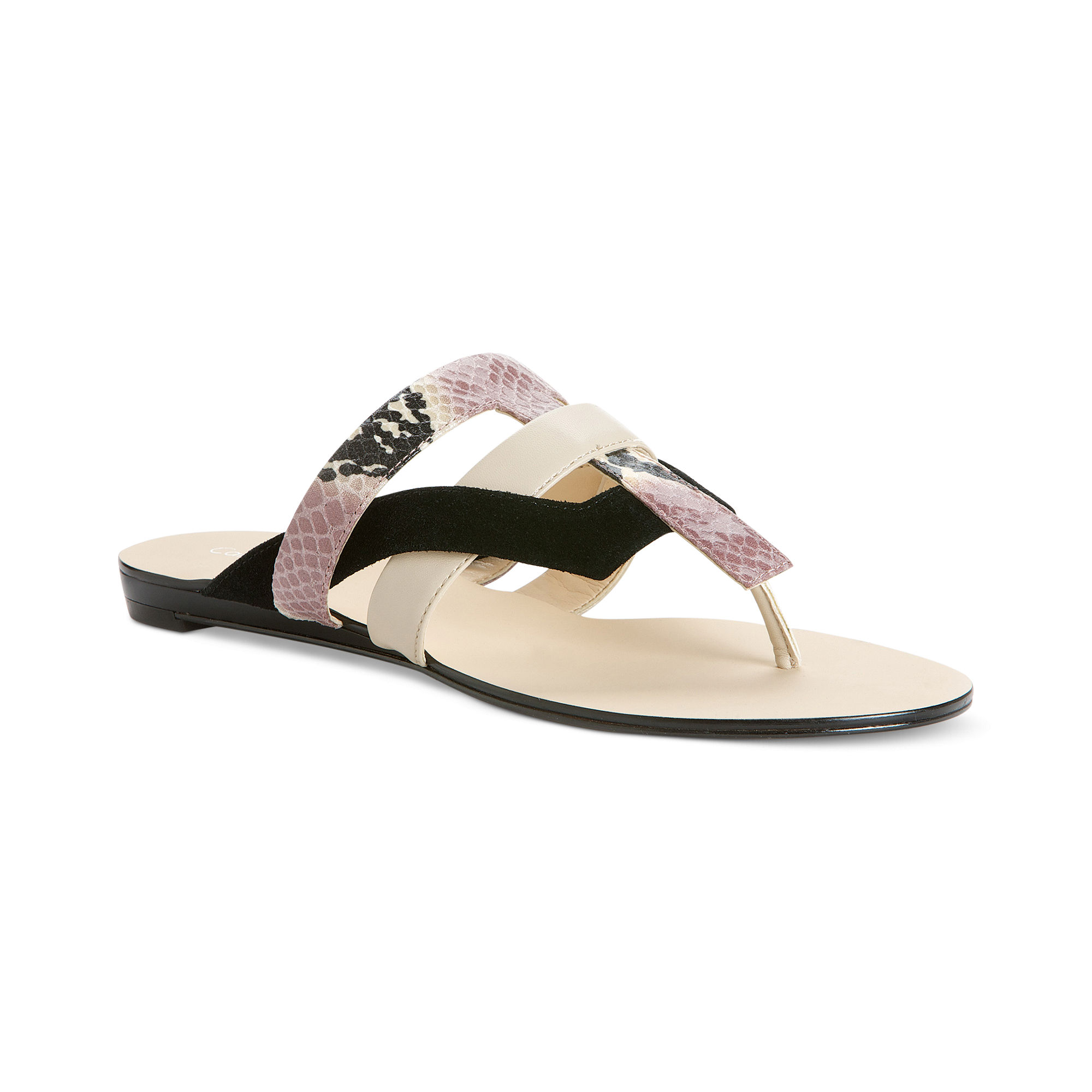 a9ca1bf242dbc9 ... high heels white black and. calvin klein black sandals calvin klein  sarina flat sandals in black black