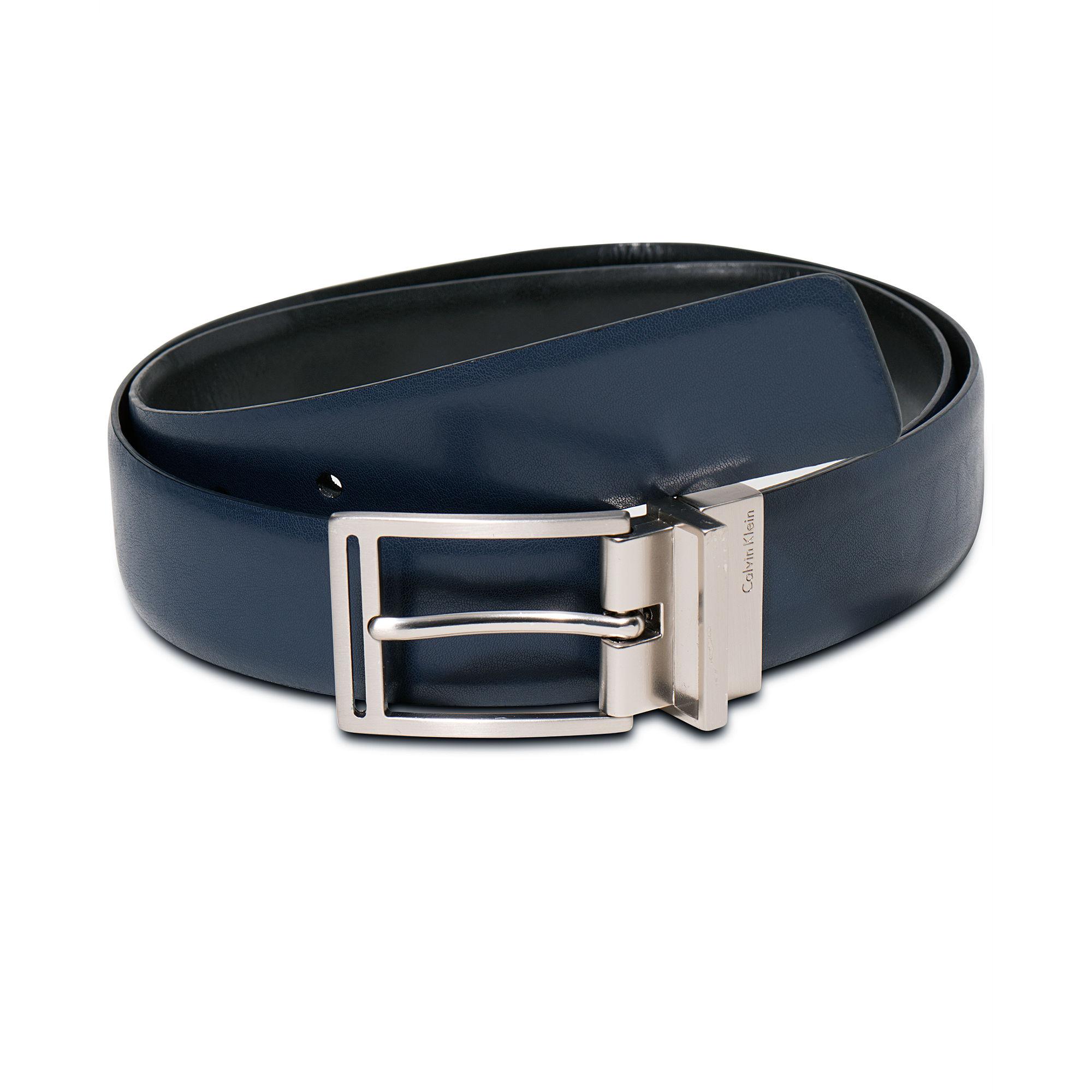 Calvin Klein 32mm Reversible Dress Belt In Blue For Men