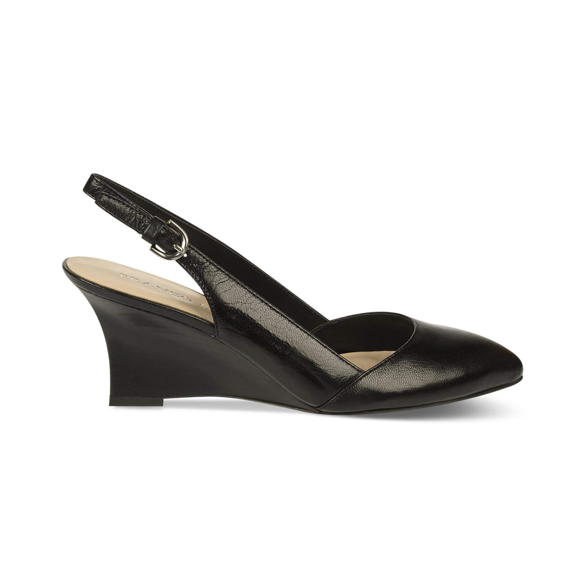 Lyst Franco Sarto Paxton Slingback Wedges In Black