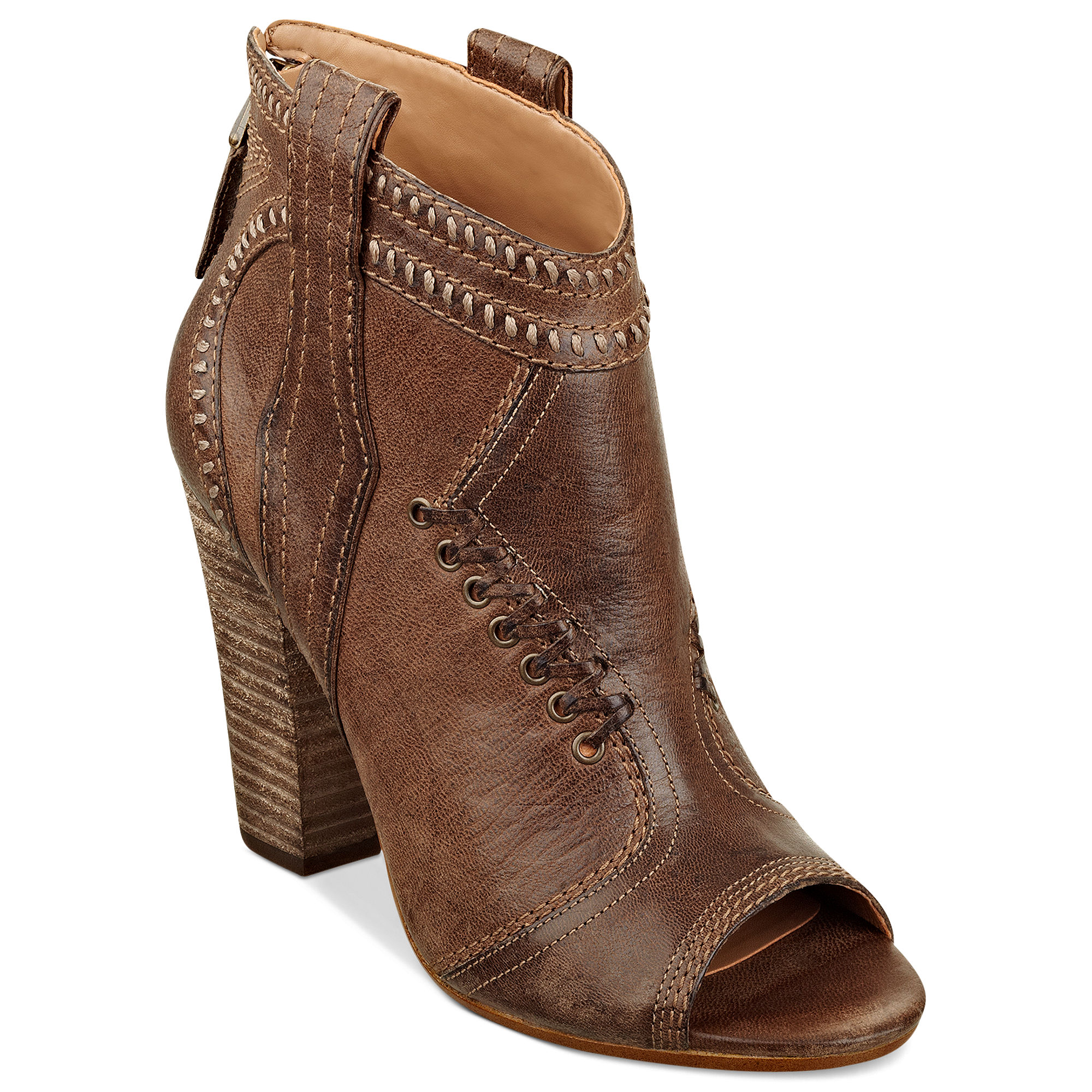 guess womens boots olevar booties in brown lyst