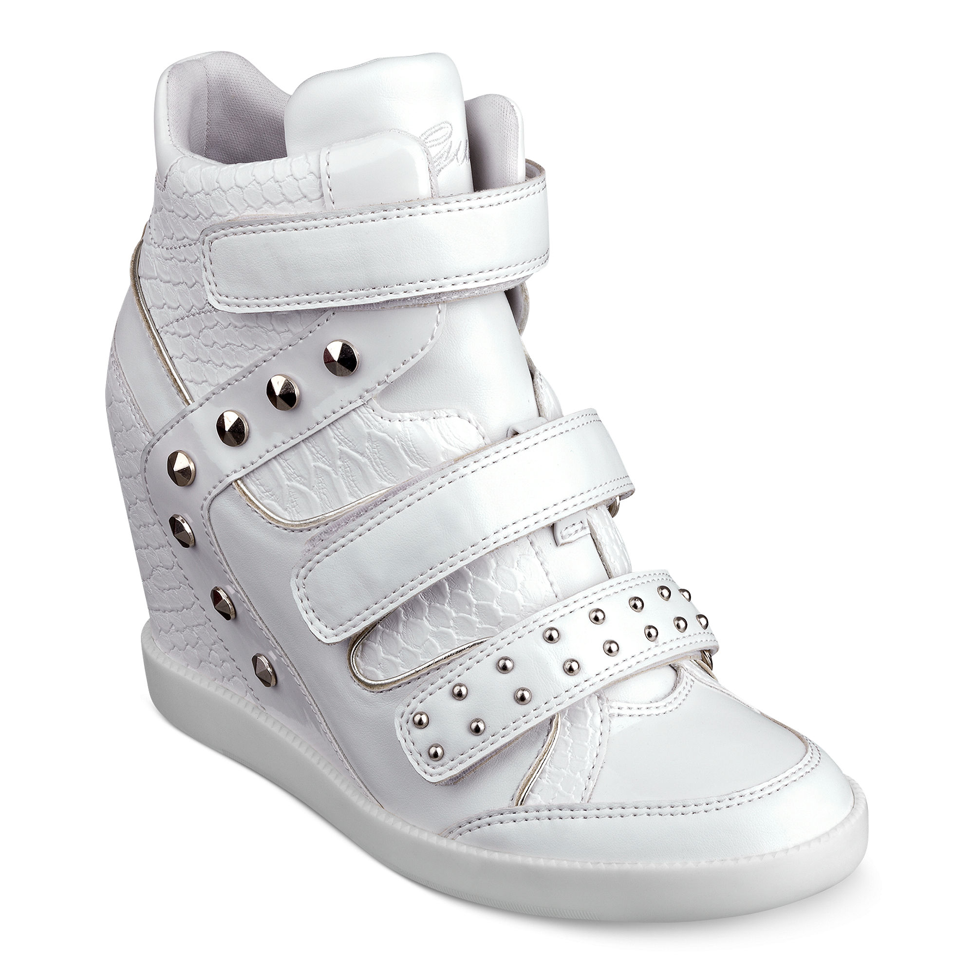 3fa439b0360 Lyst - Guess Hisaben Wedge Sneakers in White
