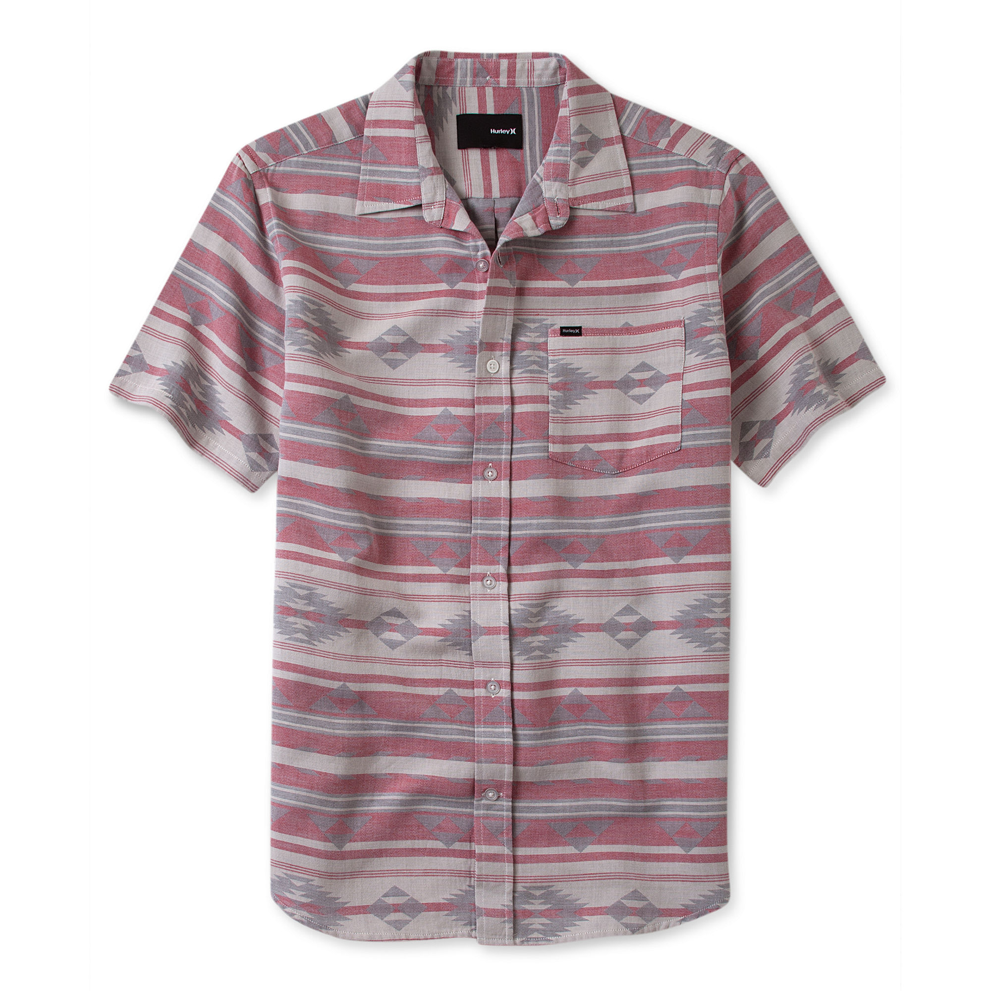 Lyst Hurley Bismark Short Sleeve Southwest Print Shirt in Brown