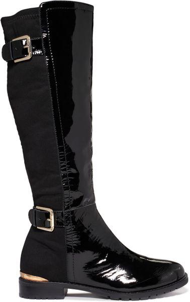 Isaac Mizrahi New York Amit Tall Riding Boots In Black
